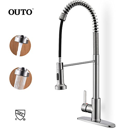 Spring Sink Faucets, OUTO Upgraded cUPC Certifi...