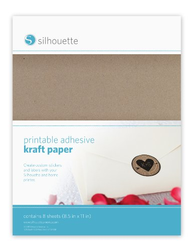 Silhouette Printable Adhesive Kraft Paper for sale  Delivered anywhere in USA