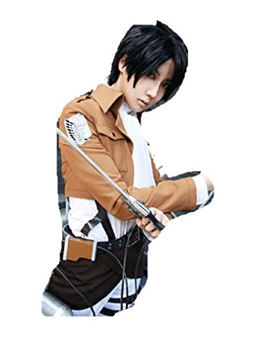 Shingeki No Kyojin Rivaille Costume (Attack on Titan Shingeki no Kyojin Levi Rivaille cosplay costume in stock)