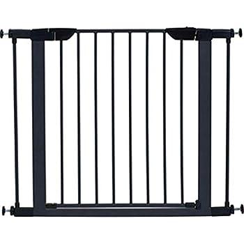 Amazon Com Steel Pet Gate W Textured Graphite Frame