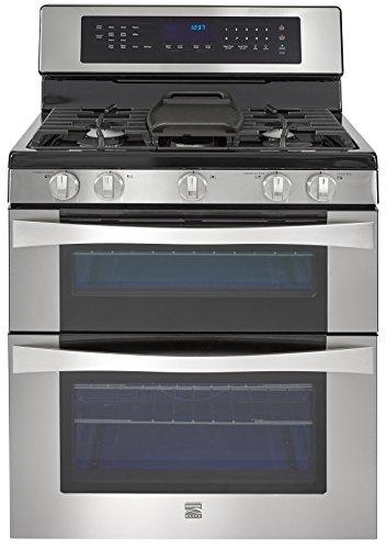Kenmore Elite 76033 6.1 cu. ft. Self Clean Double Oven in Stainless Steel, includes delivery and (Elite Freestanding Range)