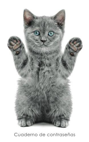 Cuaderno de contraseñas: Libro de registro de direcciones y contraseñas en internet - Cubierta de gatito juguetón (Cuadernos para los amantes de los gatos) ...