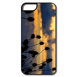 IPhone 5/5S Hard Plastic Cases, Thistle White/black Covers For IPhone 5 5S
