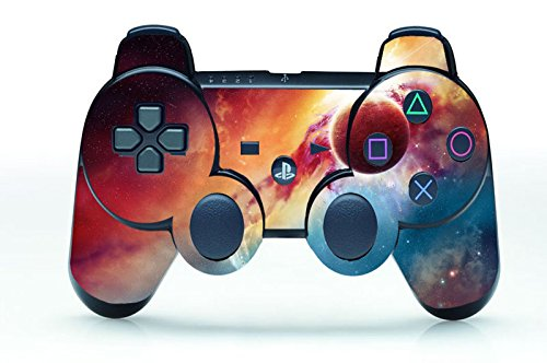 Gebaisi Vinyl Skin Sticker Protector for Sony Playstation 3 PS3 Controller Cosmic Nebular