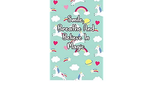 Smile Breathe And Believe In Magic Daily Gratitude Journal Holiday Sarah B 9781090260017 Amazon Com Books
