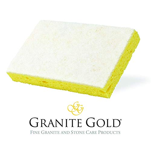 Granite Gold Fba Gg0022 Non Scratch Scrub Gentle Granite Marble Quartz Stone Care Cleaning Sponge 1 Pack White