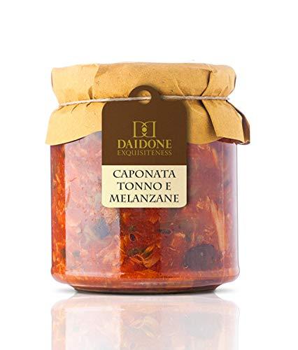 Daidone - Handgemachte sizilianische Aubergine und Thunfisch Caponata - 6 Gläser aus 300g