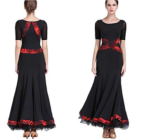 Cha Dress Modern Ballroom Latin Black Skirts Waltz qRSFfF
