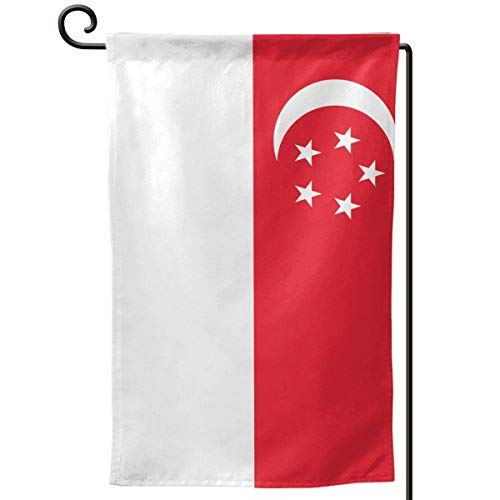 sport outdoor 003 Flag of Singapore 12.518 Inch Garden Flag Waterproof Double Sided Yard Outdoor Decorative]()