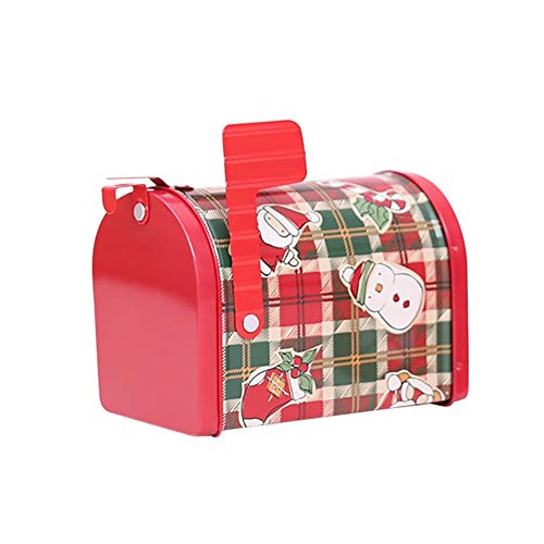 (Bags Wrapping Supplies - 2019 Christmas Santa Claus Snowman Tin Box Sealed Jar Packing Boxes Mailbox Shape Candy Gift Kids - Tin Kid Tin Heart Box Box Gift Supplies Tea Jar Box Candy & Gift Fake)