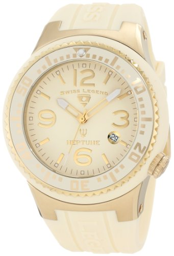 Swiss Legend Men's 21848P-YG-16 Neptune Cream Dial Cream Silicone Watch
