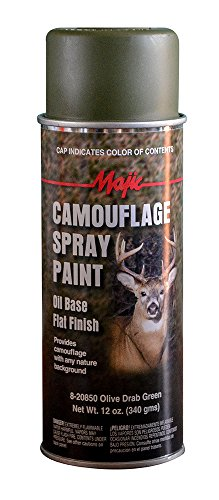 Spray Paint Olive Drab (Majic Paints 8-20850-8 Camouflage Spray, Olive Drab)