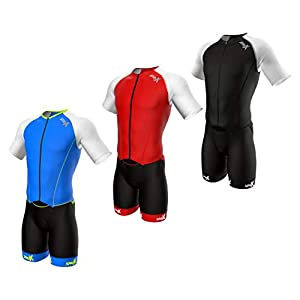 Sparx Mens Elite Aerosuit Triathlon Suit Mens Short Sleeve Tri Suit Skinsuit