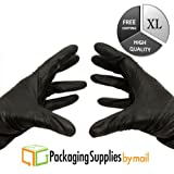 XLarge Black Nitrile Exam Gloves 3.5 Mil Latex Free, 3000 Pcs