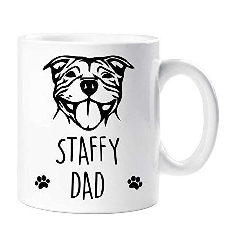 (Staffy Mug Staffy Dad Pet Present Dog Lover Staffordshire Bull Terrier Fathers Day)