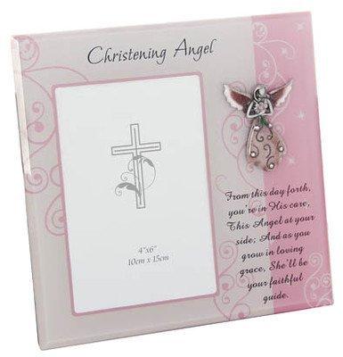 Christening Angel Photograph Frame for 6 x 4 Photo - Boxed Gift for Girl Shudehill 25704