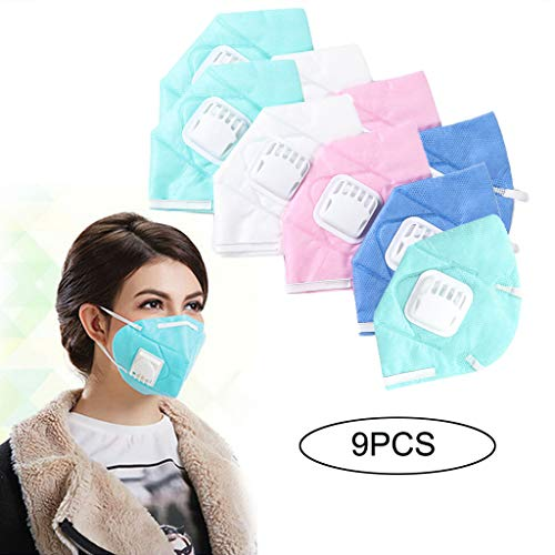 - Euone  Mask, 9pc Anti Pollution Masks Unisex Outdoor Protection N95 Non-Woven Fabric Dust Mask