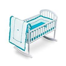 BabyDoll Unique Cradle Bedding Set, Aqua