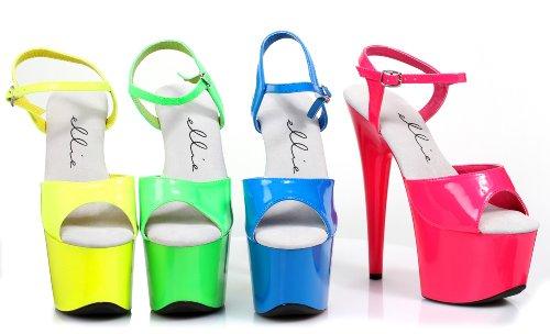 Ellie Skor 7 Neon Stilett Sandal Fuchsia
