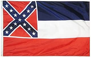 product image for All Star Flags 4x6' Mississippi Nylon State Flag - All Weather, Durable, Outdoor Nylon Flag