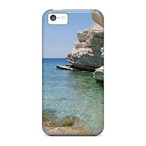 Anti-scratch And Shatterproof Greek Water Scene Phone Cases For Iphone 5c/ High Quality Cases