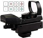 SVBONY Red and Green Dot Sight Reflex Sight Tactical 4 Reticles 5 Brightness Levels 20mm Mount 33mm Reflex Len