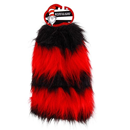 elope Dr. Seuss Cat in the Hat Fuzzy Leg Warmers - Cat In The Hat Leg Warmers