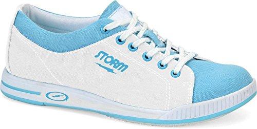 Storm Meadow Bowlingschuhe, Weiß / Blau, 6