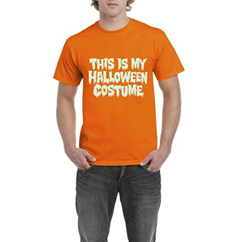 Xekia This is My Halloween Costume Fashion Party People Best Friends Gift Couples Gift Men's T-Shirt Tee Large Orange -
