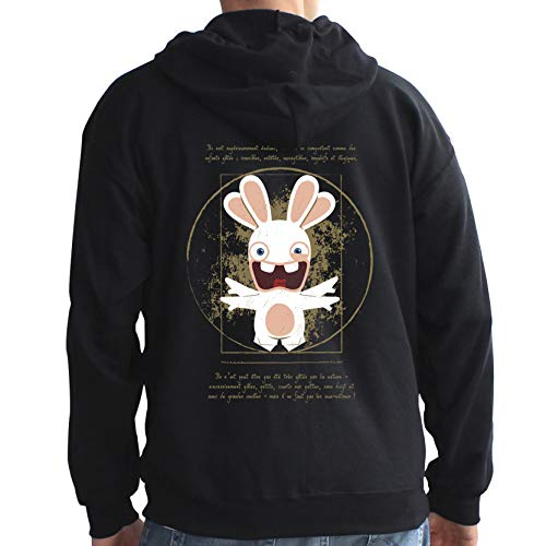 Da Sudadera Cretins Abystyle Vinci Cretin Negro Rabbits Rabbit s Hombre EpgOqwZ