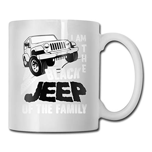Roing Bo Coffee Mugs 11oz Funny Cup Milk Juice Or Tea Cup I Am The Black Jeep of The Family -