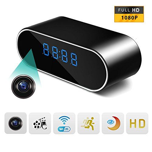 Spy Camera Stonepack 1080P Wifi Hidden Camera Clock Video Recorder Wireless Ip Camera For Indoor Home Security Monitoring Nanny Cam Night Vision Motion Detection