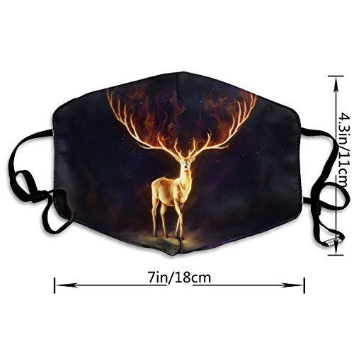 Gold Flame Deer Adult Various Protective Fashion Air Mask | Face Mask | Anti Pollution Dust Mask | Washable And Reusable