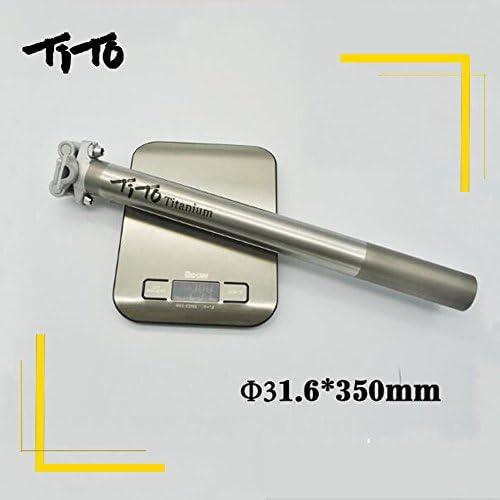 TITO Alliage de Titane Tige de Selle de V/élo pour VTT//Route V/élo Pi/èces 27,2//31.6/mm350/mm Titanium Tube de lassise et T/ête en Aluminium