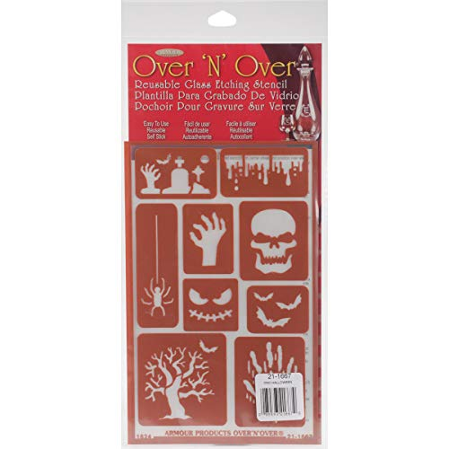 Armour Products Halloween Over n Over Glass Etching -