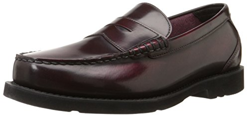 Off Circle - Rockport Men's Shakespeare Circle Penny Loafer-Burgundy Brush Off-8.5 M
