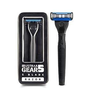 Ustraa Gear 5 Shaving Razor (Handle + Blade) – Black