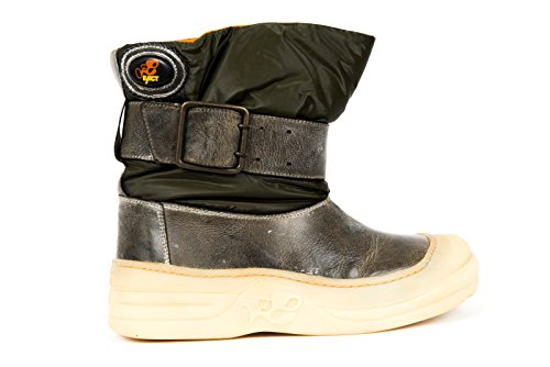 Eject Damen Stiefel Boots Herbst/Winter grau/grün Leder ( Used Optik )