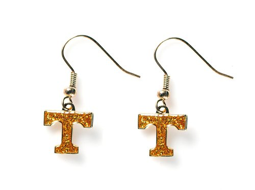 Tennessee Volunteers - NCAA Glitter Logo Dangle Earrrings by aminco