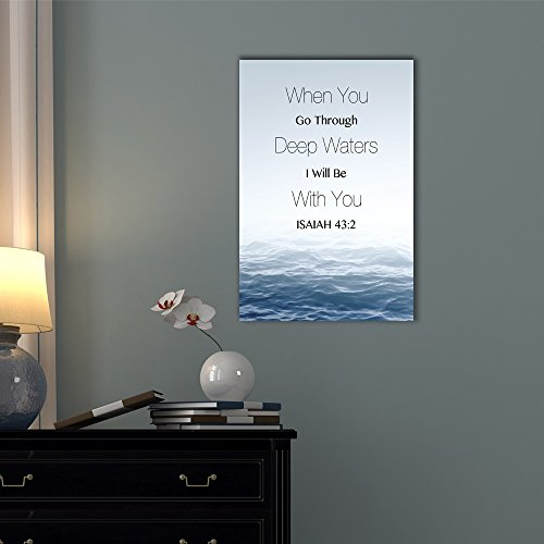Christian Quotes Series When You Go Through Deep Waters I Will Be with You Isaiah 43:2