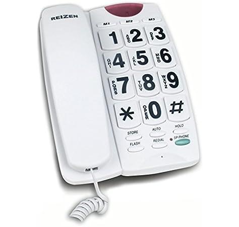 Telefono fijo teclas grandes con altavoz manos libres marcacion rapida ancianos: Amazon.es: Hogar