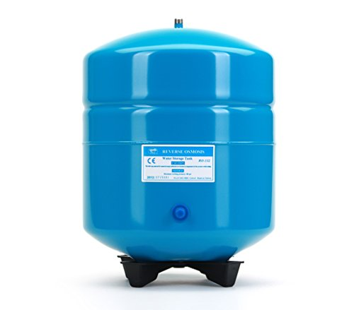Hydronix RO-132-B14 Stainless Steel 4.5 Gallon Reverse Osmosis Storage Water Tank - Blue, 1/4'' Port by Hydronix