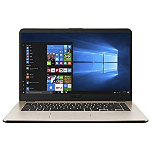 ASUS VivoBook 15 ( AMD Dual Core R3-2200 /4 GB/1TB / 15.6″ FHD/ Windows 10 )  X505ZA- EJ492T ( Icicle Gold /1.6 kg)