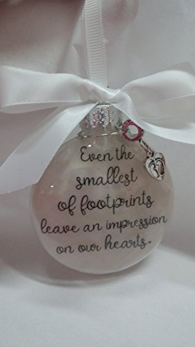 Baby Memorial Ornament - Even the Smallest of Footprints Leave an Impression - Sympathy - Nephew Ornament