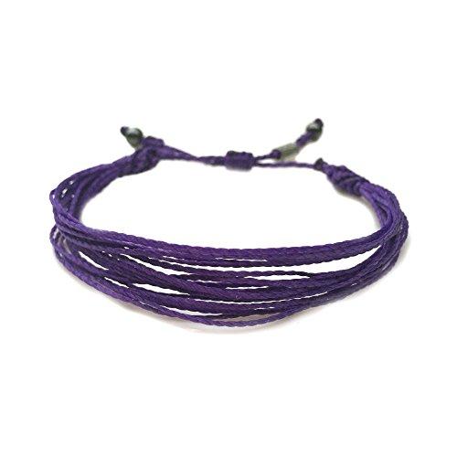 Purple Awareness Bracelet for Pancreatic Cancer, Alzheimer's, Cystic