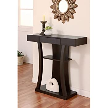 this item ames modern cappuccino console table