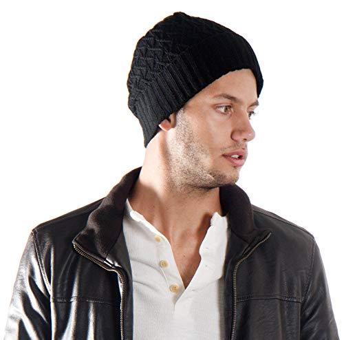 Simplicity Winter Criss Cross Knit Fleece Lined Ski/Snowboard Beanie Hat