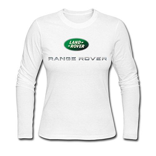 Price comparison product image Range Rover Logo Woman Long Sleeve T-Shirt White
