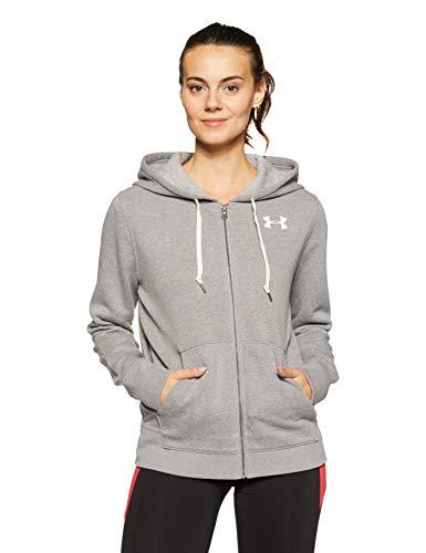 - Under Armour Women's Favorite Fleece Full Zip Hoodie,True Gray Heather /Midnight Navy, Medium