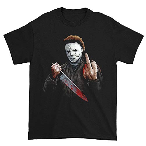 Halloween Michael Myers Middle Finger T-Shirt S]()